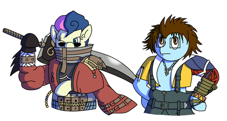 Commission - Aur-Bon and Sort-Of Tidus by Passer-in-the-Storm