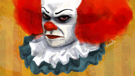 Tim Curry s Pennywise s expression of hatred by comuto-sama