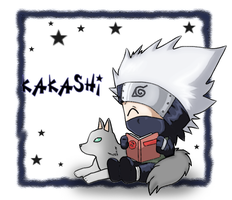 Naruto: Chibi Kakashi by The-PirateQueen