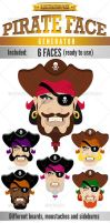 Pirate Face - Illustration Kit by doghead
