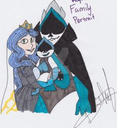Darkners Royal Family portrait by Mochathespoongirl