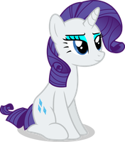 Mlp Fim Rarity (happy) vector #5 by luckreza8