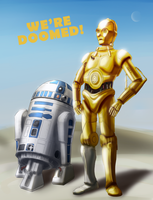 C3PO and R2D2 by pfs-kun