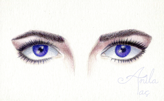 Elizabeth Taylor Violet Eyes (w/ time lapse video) by MoonwalkingHorse