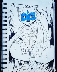 Inktober Day 2: Alopex by Shellsweet