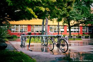Bicycles in the rain stock image 001 by NoirArt