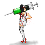 LOL: Nurse Akali by Ineverfinishanything