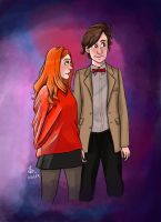 11th and Amy Pond by ThalitaMarqui