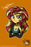 MLP EQG: Sunset Shimmer by DarkMirrorEmo23