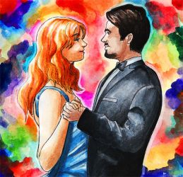 Tony and Pepper Dancing by ellensama