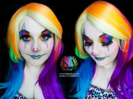 Sparkly Clown Halloween Makeup with Tutorial by KatieAlves