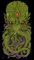CTHULHU colored by TheWolfMaria