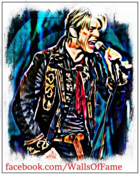 Bowie Painting 28A by wallsoffame