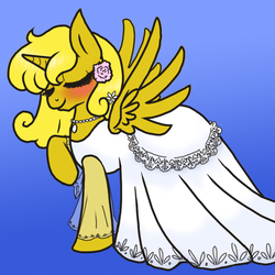 Golden Ticket in a wedding dress by NaomiKnight17