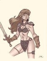 Red Sonja Commission by em-scribbles
