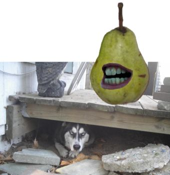 Scared of That Creepy Pear by maxjwolf