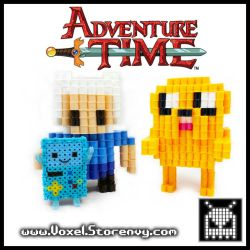 Finn and Jake Adventure Time by VoxelPerlers