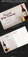 Wine Festival Flyer and Postcard Template by Godserv