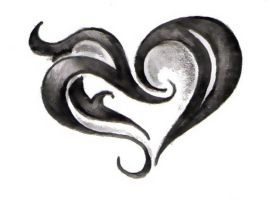 Tribal Heart Doodle by remnantrising