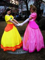 Peach and Daisy Cosplay by Rayi-kun