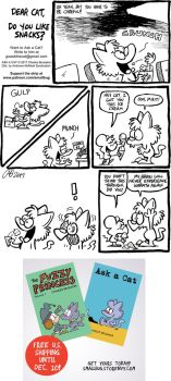 ASK A CAT: Snacks by bakertoons