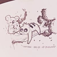 Inktober #25: Komala and Slakoth