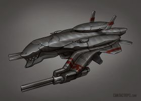 Contact - Barracuda Sub Fighter by Shimmering-Sword