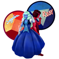 Ruby and Sapphire by WakaXO