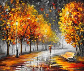 FALL MARATHON OF NATURE by Leonid Afremov by Leonidafremov