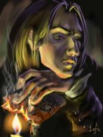 Severus and burning parchment by tafafa