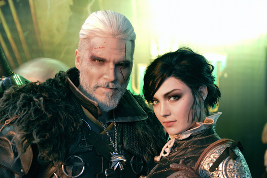 Witcher cosplay. Geralt and Syanna by HydraEvil