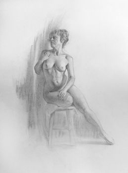 Seated figure / practice 24 by AnaviTil