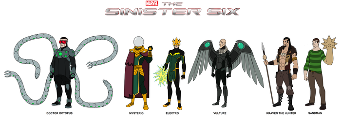 Marvel - The Sinister Six 2017 by HewyToonmore