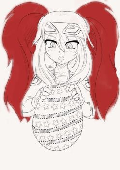 I try to coloring a line-art for the first time by trixiatra
