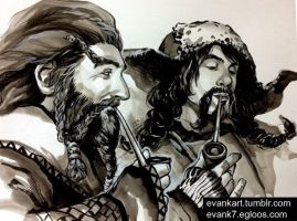 Nori and Bofur by evankart