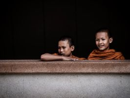 Little Monks by InayatShah