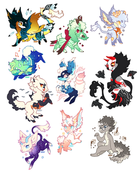 Recent Chibis! by Hauket