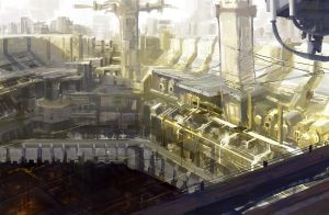 Multi layered city by onestepart
