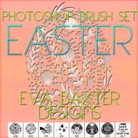 EVA BAXTER DESIGNS -- EASTER PS BRUSH SET by EvaTakesNoPrisoners