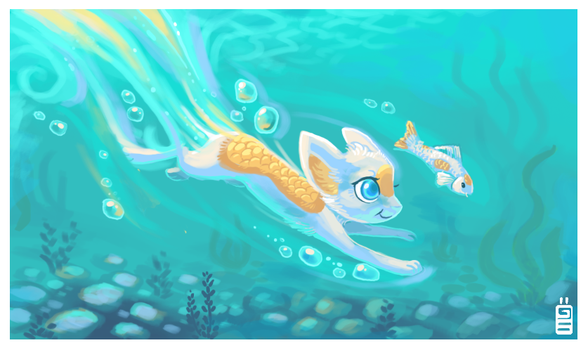 Swimming by griffsnuff