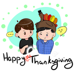 Happy (late) Thanksgiving...! [phan doodle] by oh-no-Castiel
