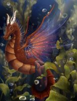 Red Sea Dragon by Maybellez