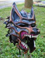 Commission: Dire Wolf Helm by Epic-Leather