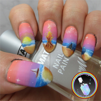 Camping Nail ART by Ithfifi