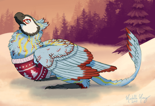 Comfy in a Sweater by Michatah