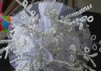 beaded wedding bouquet by Craftcove