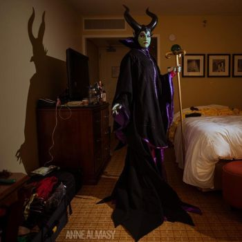 Maleficent in her hotel room by TheZe