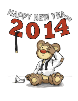 New Year's Day Bear 2014 by JoshuaLam715
