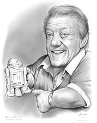 Kenny Baker R2D2 Star Wars by gregchapin