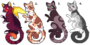 ~Cat Adoptables~ [2/4] [PRICE REDUCED] [OPEN] by CreatureCart